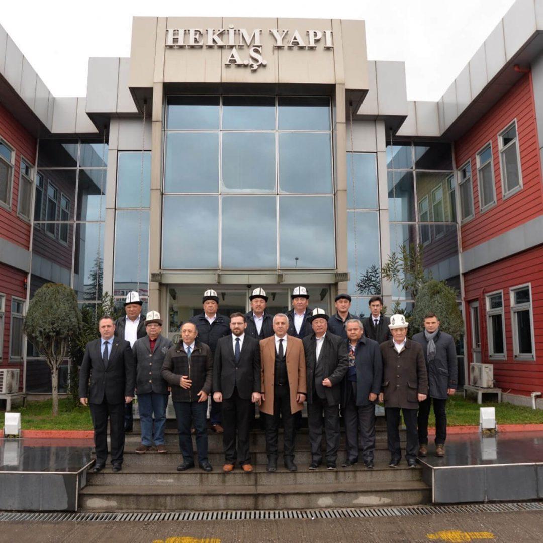 زار وفد دولة قيرغيزستان المنطقة الصناعية المنظمة الثانية في ساكاريا